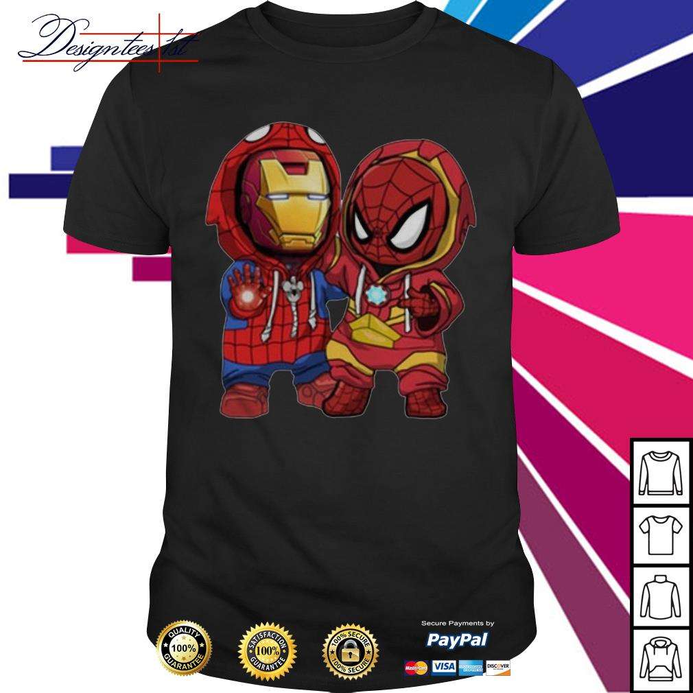 Kids Spider man and Iron man shirt