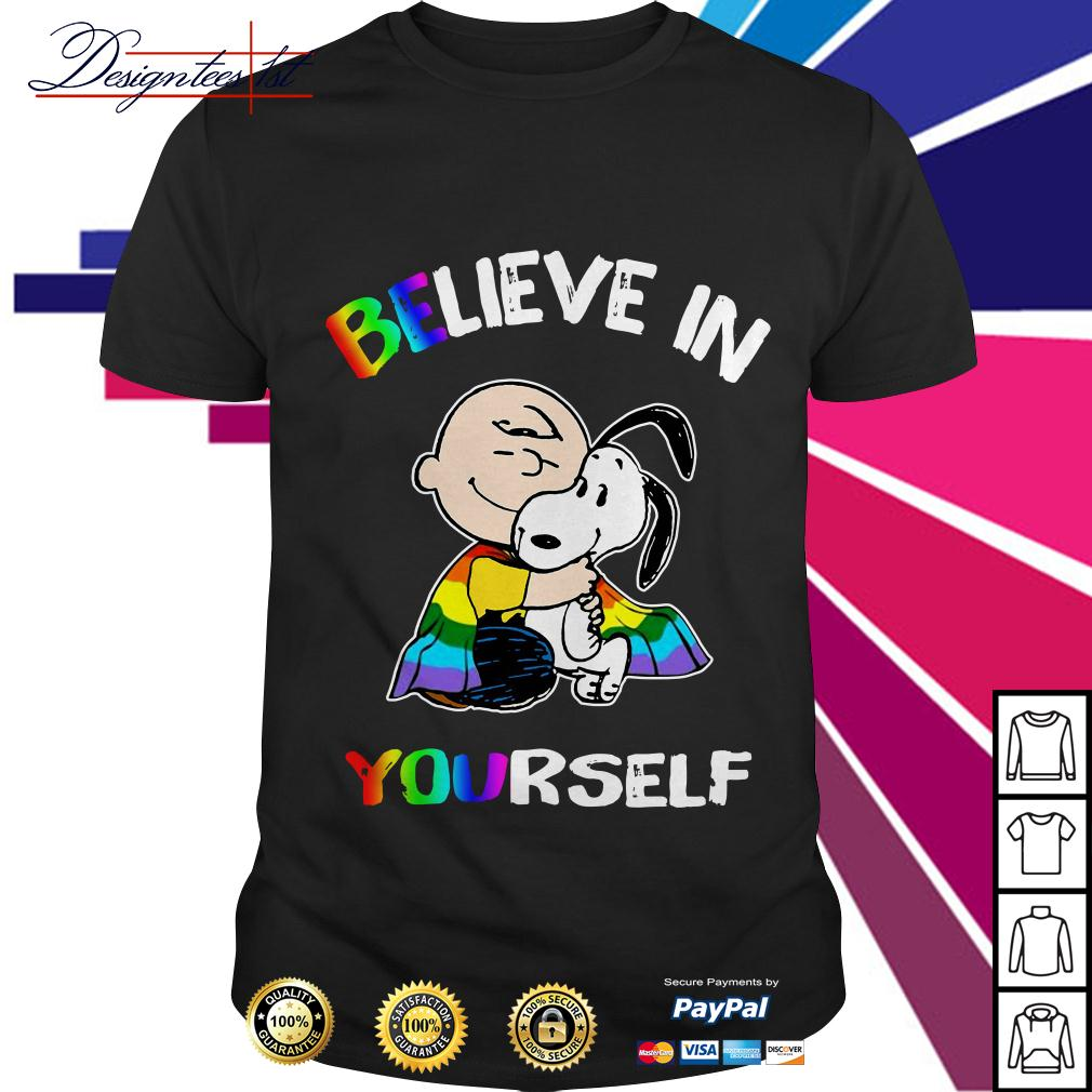 LGBT Snoopy and Charlie Brown believe in yourself shirt