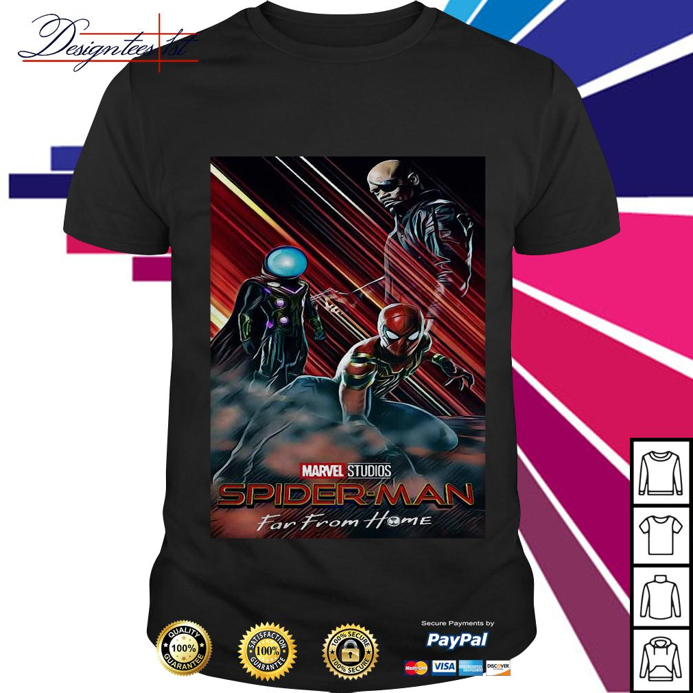 Marvel studios Spider-man Mysterio and Nick Fury far from home shirt