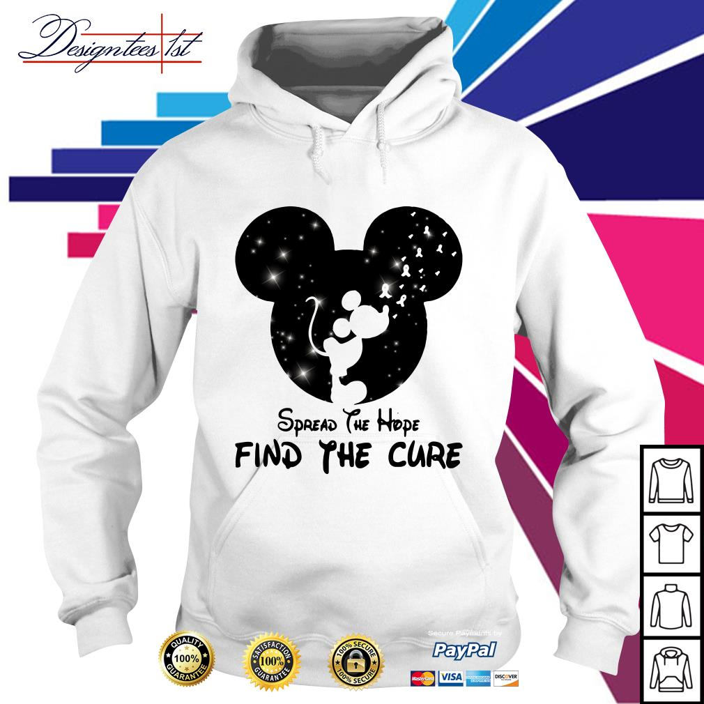 Mickey Mouse Cancer Awareness spread the hope find a cure Hoodie