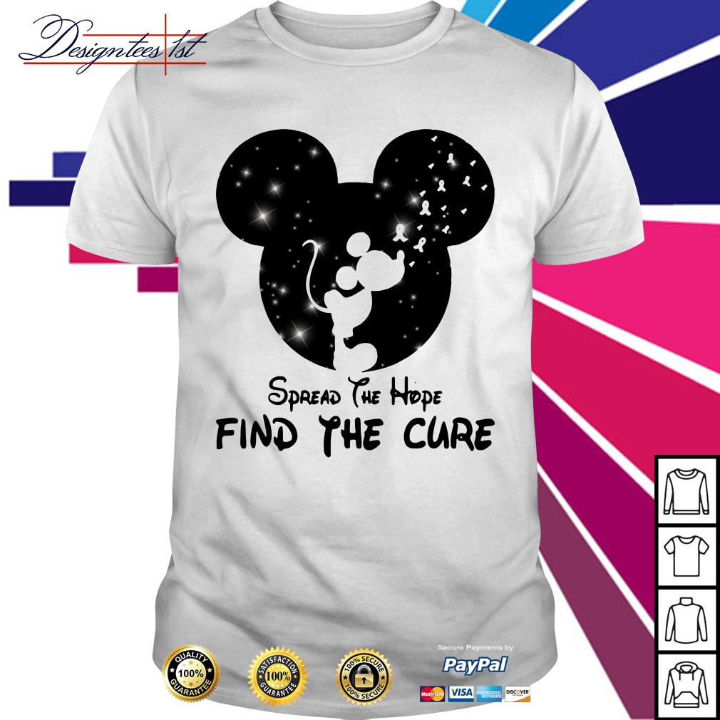 Mickey Mouse Cancer Awareness spread the hope find a cure shirt