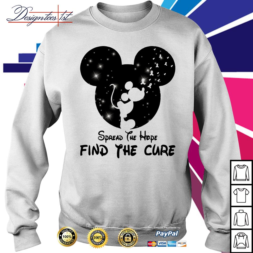 Mickey Mouse Cancer Awareness spread the hope find a cure Sweater