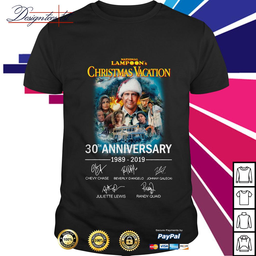 Nation lampoon's Christmas Vacation 30th anniversary 1989-2019 shirt