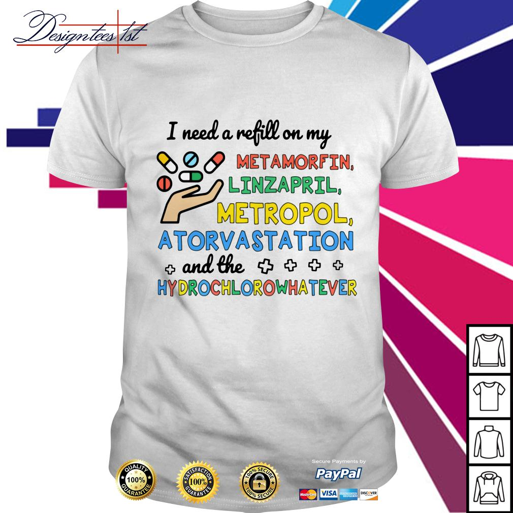 I need a refill on my metamorfin linzapril metropol atorvastation shirt