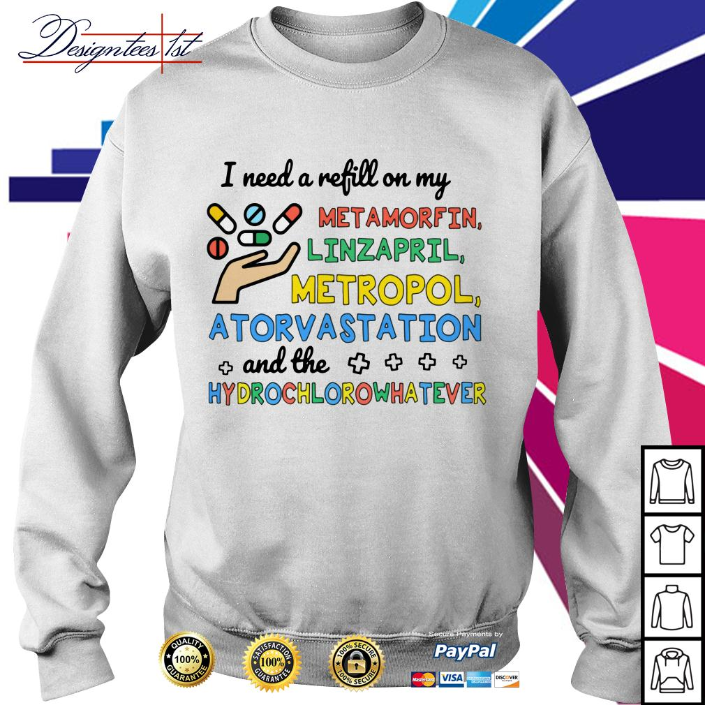 I need a refill on my metamorfin linzapril metropol atorvastation Sweater