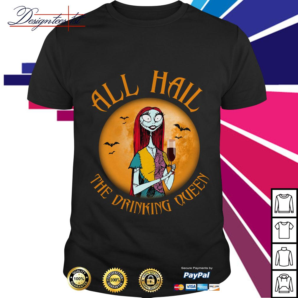 Nightmare Before Christmas wine all hall the drinking queen shirt
