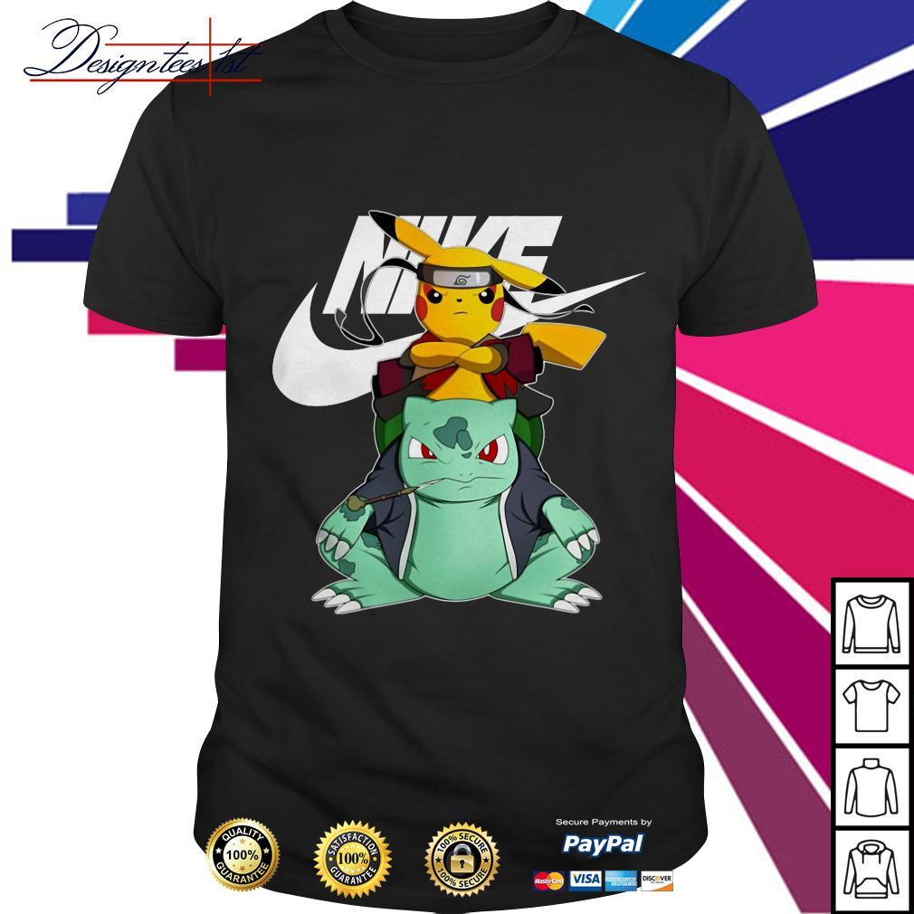 Pikachu Bulbasaur Pokemon Naruto Nike shirt