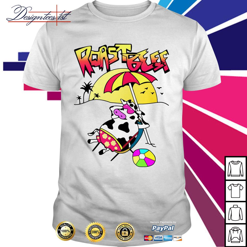 Roastbeef Real Fans Cow on Beach shirt
