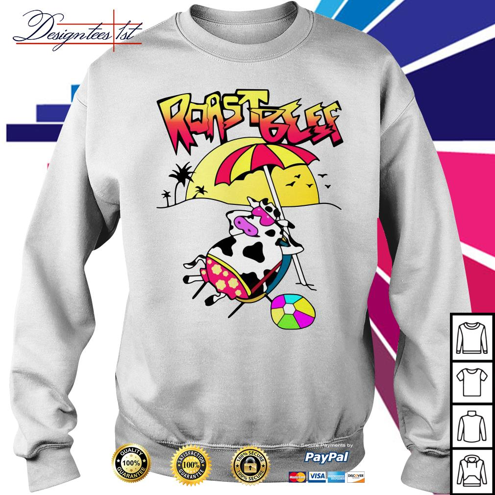 Roastbeef Real Fans Cow on Beach Sweater