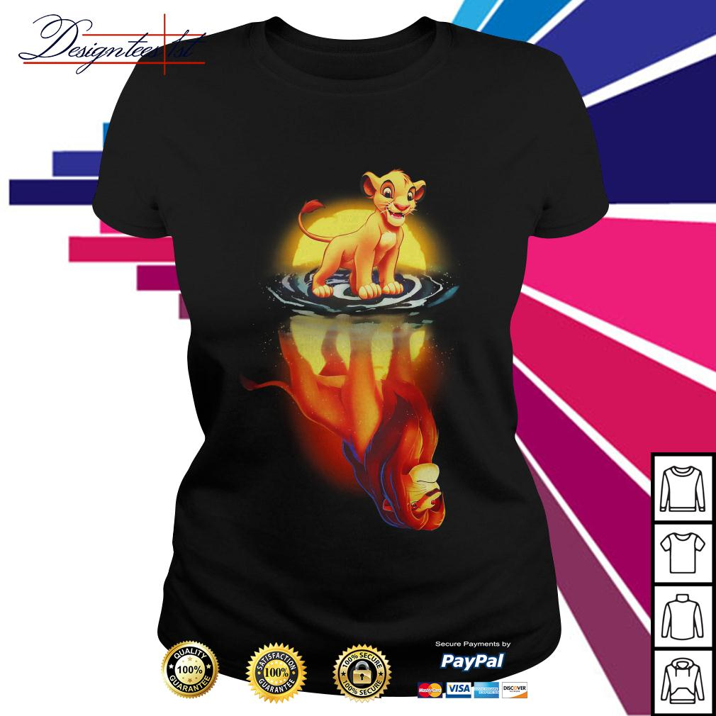 Simba moonlight lion king Ladies Tee