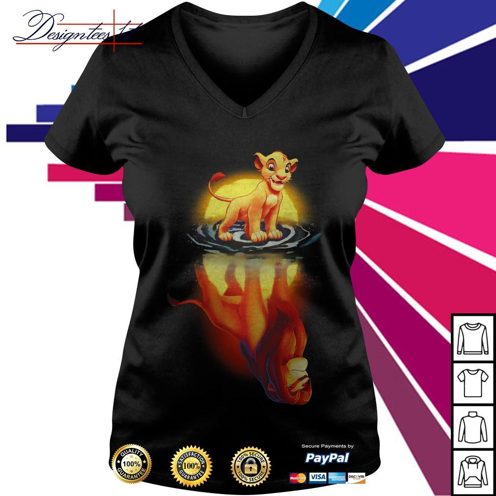 Simba moonlight lion king V-neck T-shirt