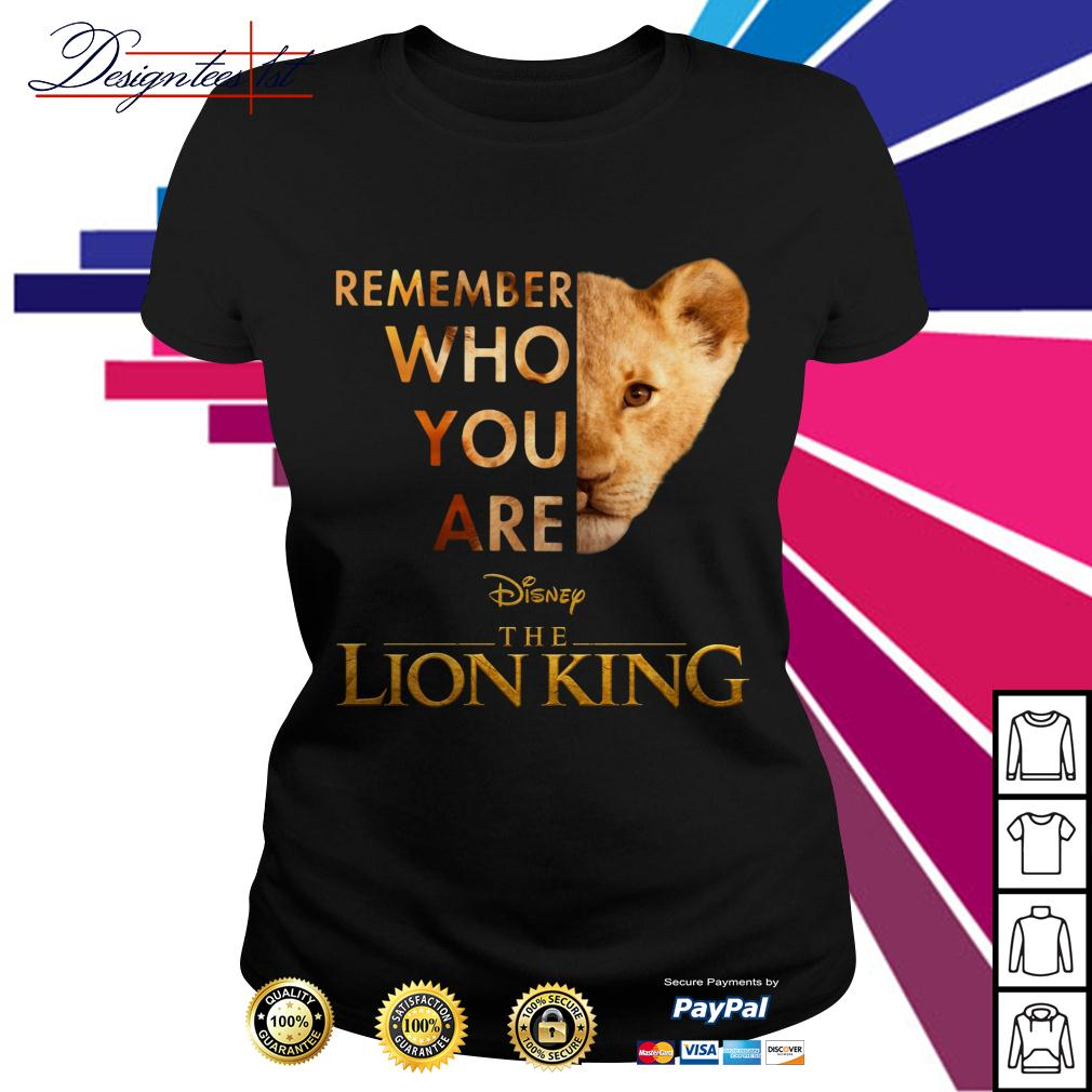 Simba remember who you are Disney the Lion King Ladies Tee