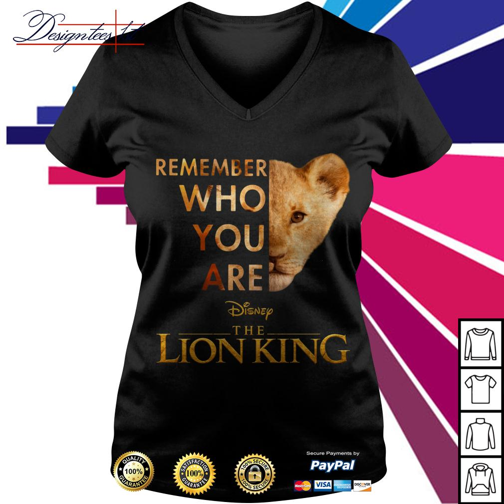 Simba remember who you are Disney the Lion King V-neck T-shirt