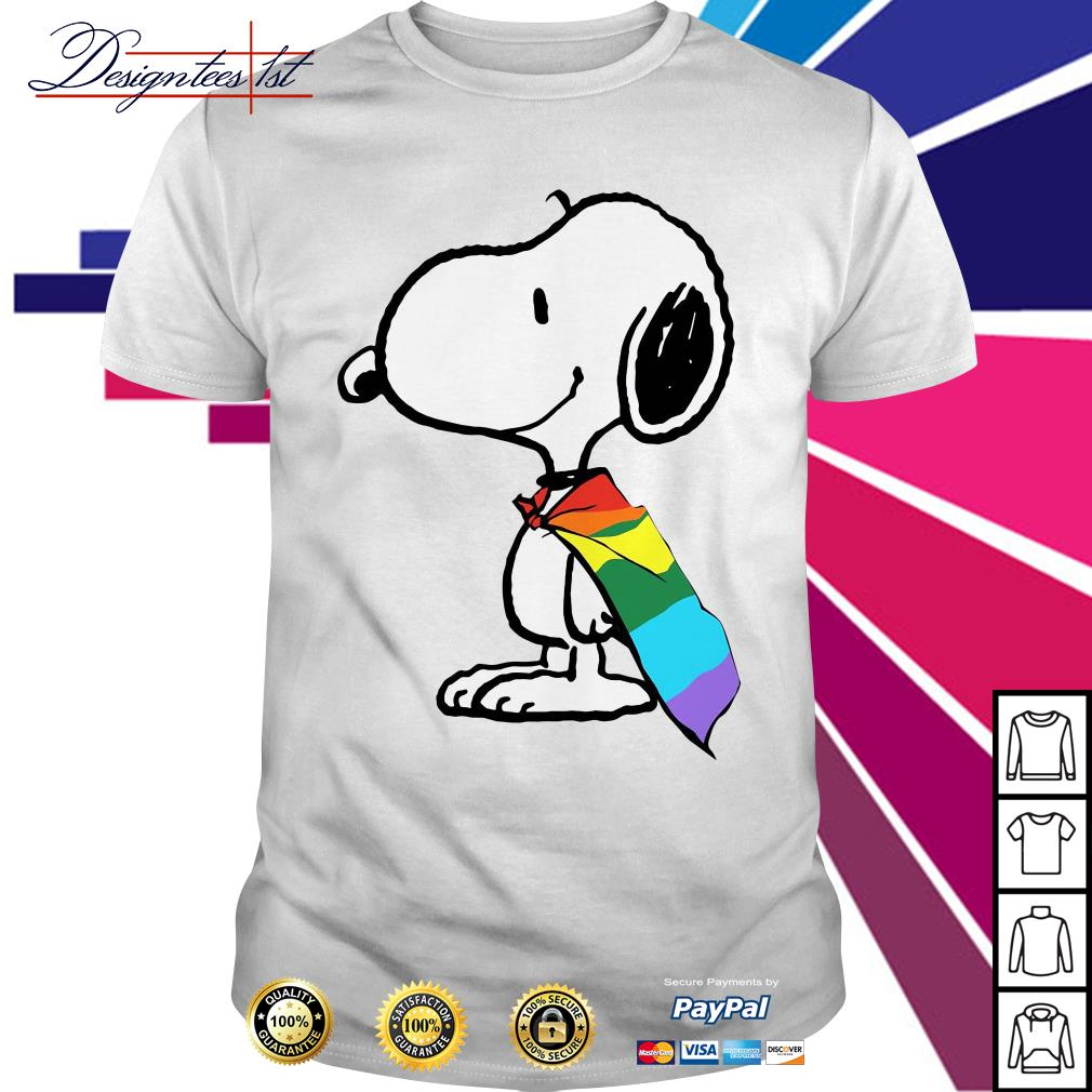 Snoopy LGBT Pride shirt