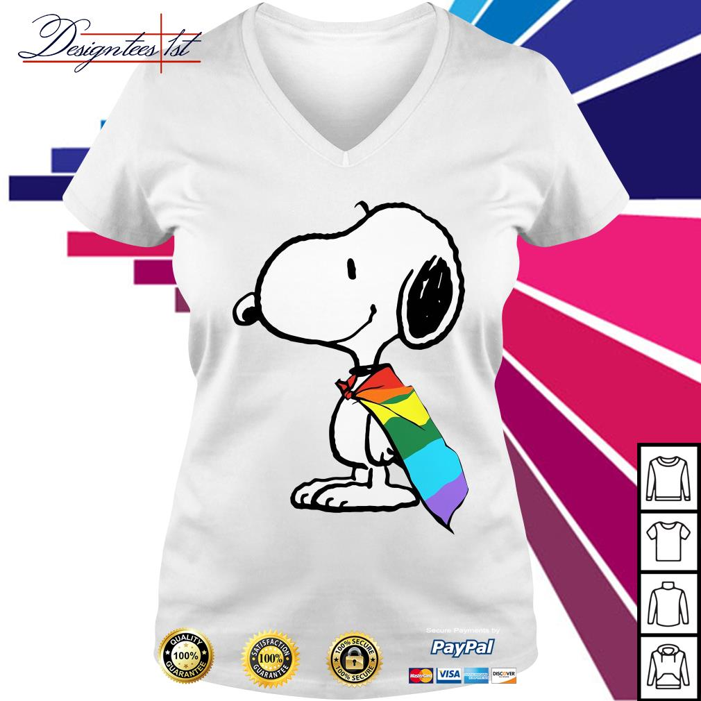 Snoopy LGBT Pride V-neck t-shirt