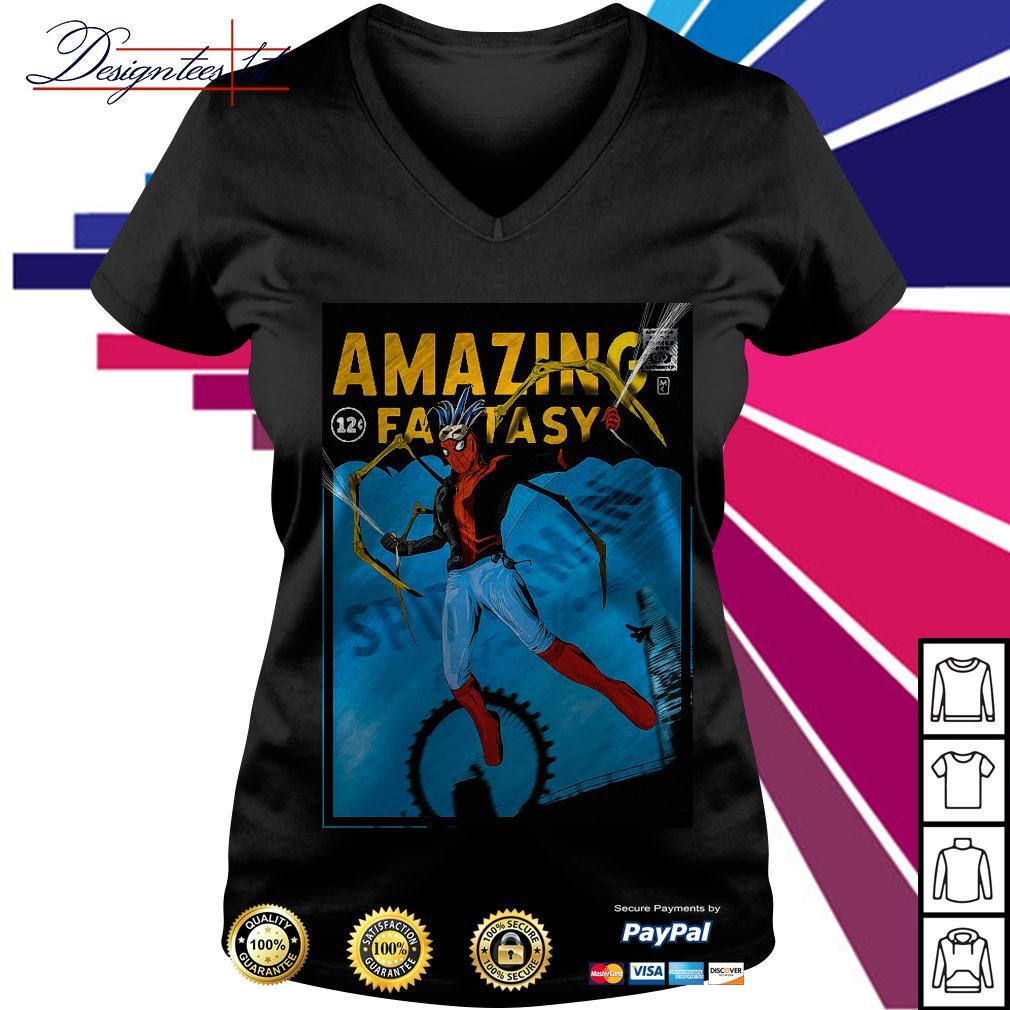 Spider-man amazing fantasy V-neck T-shirt