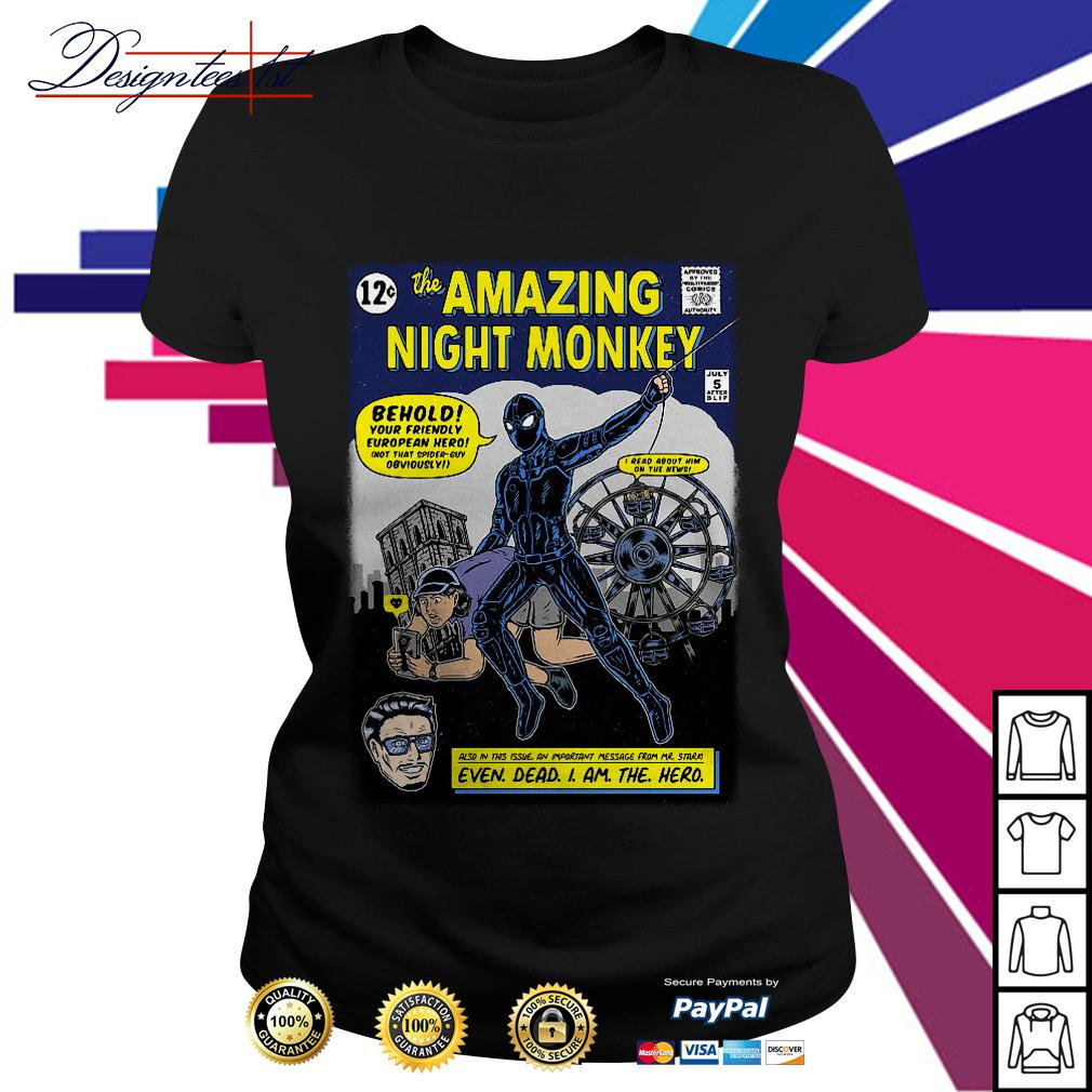 Spider-man the amazing night monkey Ladies Tee