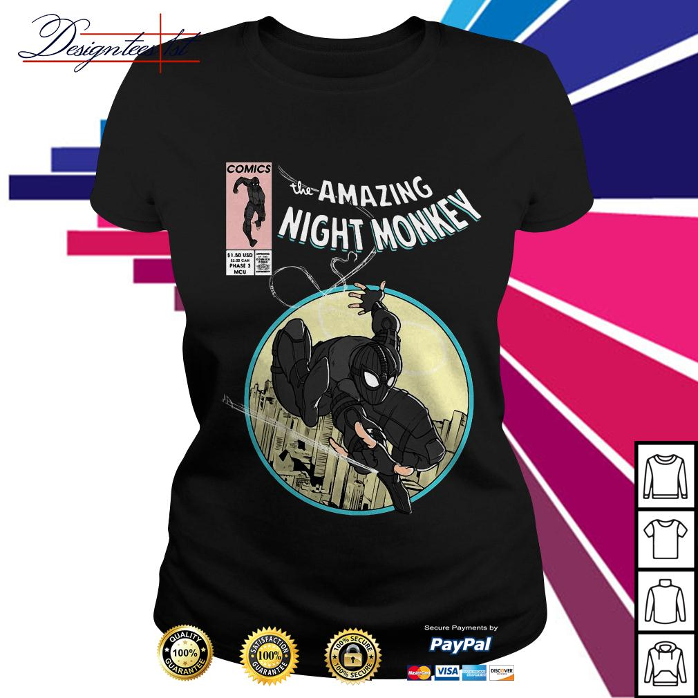 Spider-man comics the amazing night monkey Ladies Tee
