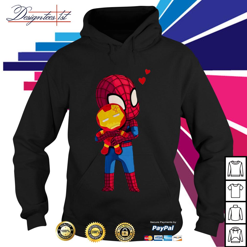 Spider-Man hug Iron man Hoodie