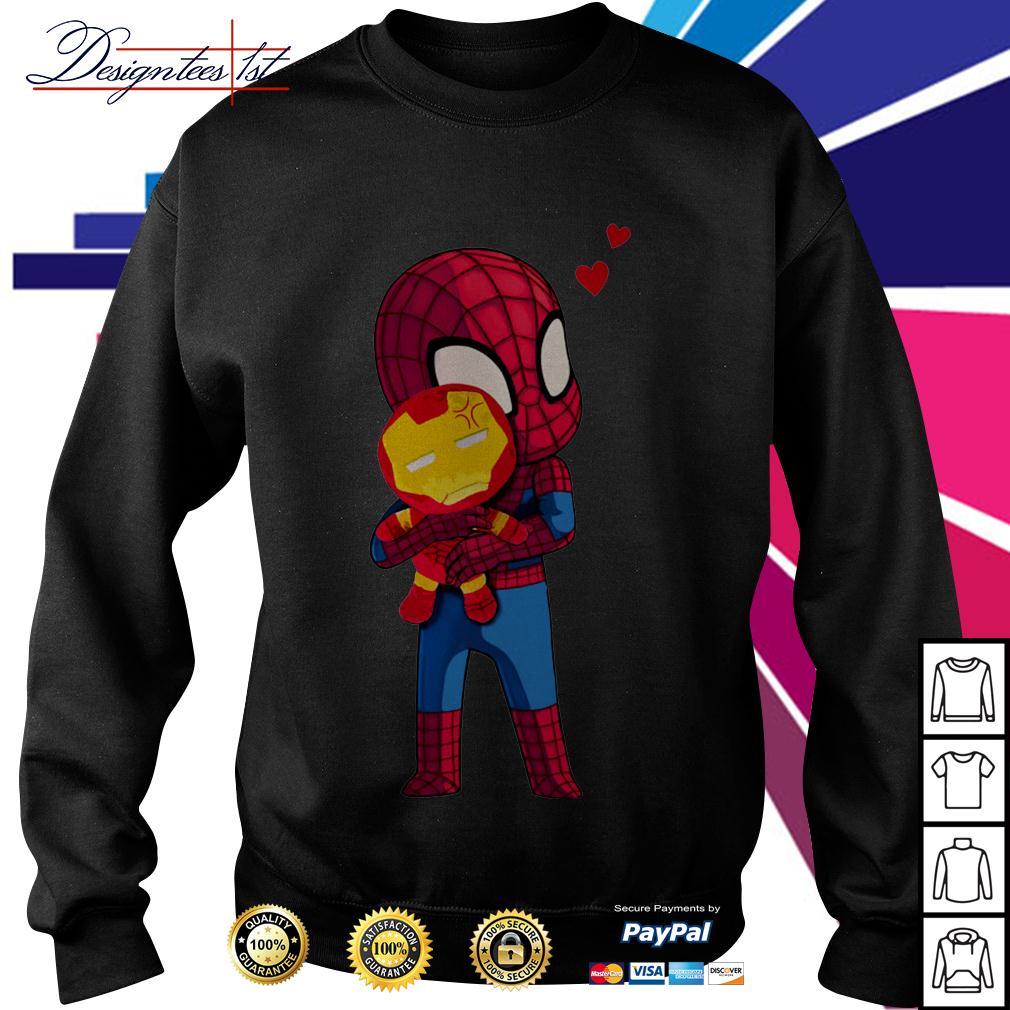 Spider-Man hug Iron man Sweater