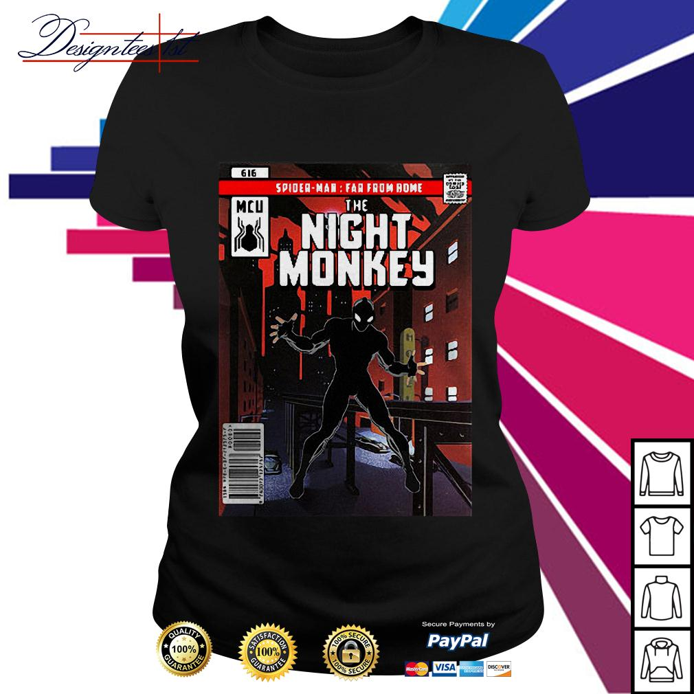 Spider-man MCU far from home the night monkey Ladies Tee