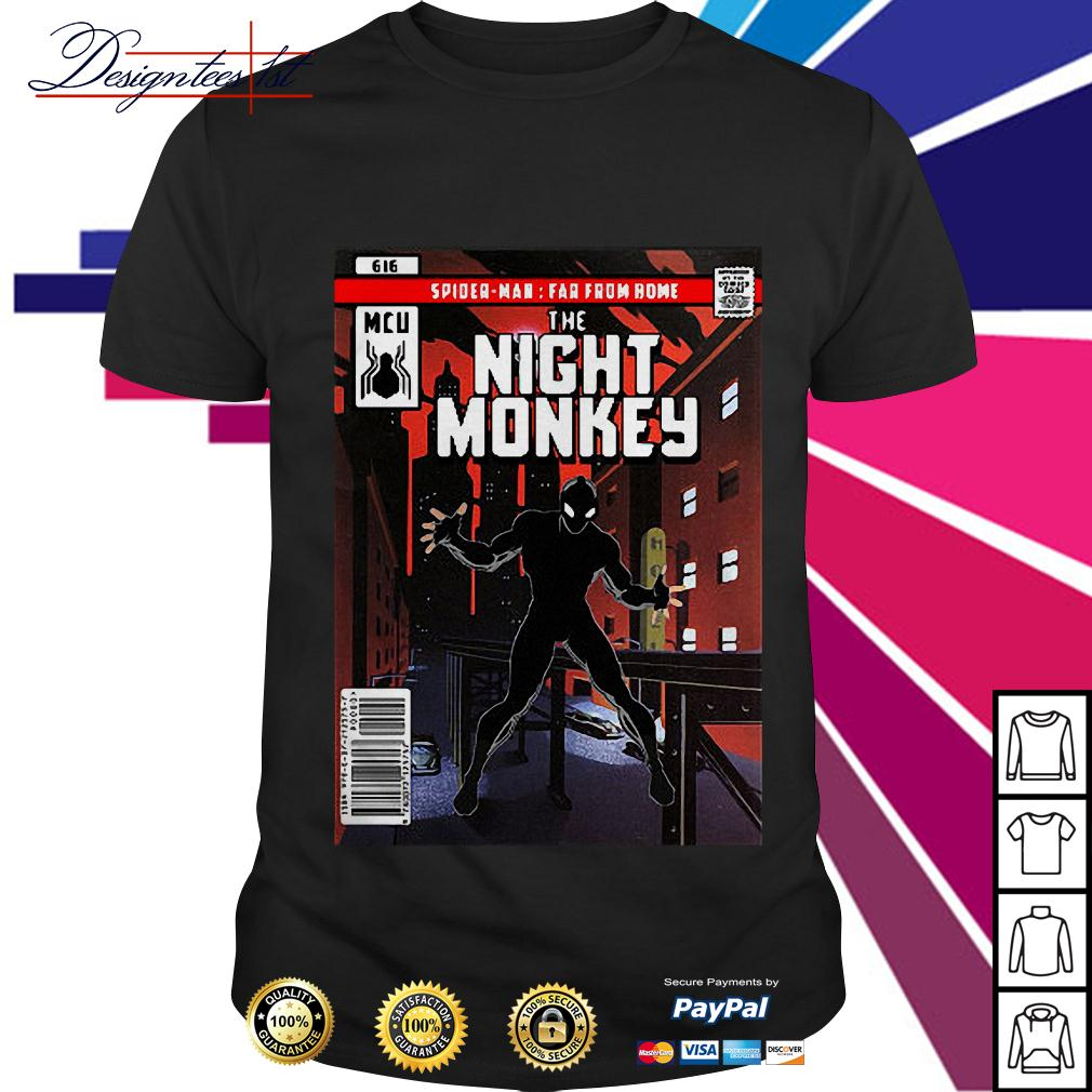 Spider-man MCU far from home the night monkey shirt