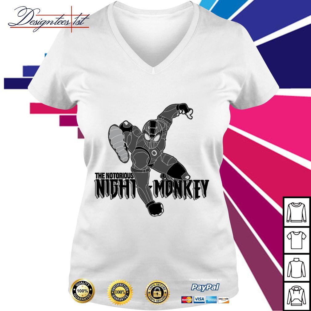 Spider-man the notorious night monkey V-neck T-shirt