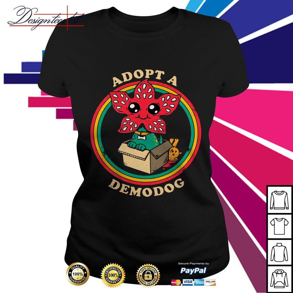 Stranger Things Adopt a demodog Ladies Tee