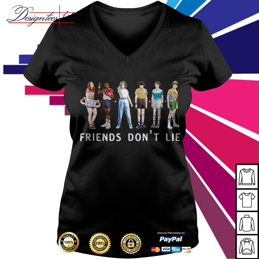 Stranger Things season 3 friends don't lie V-neck T-shirt