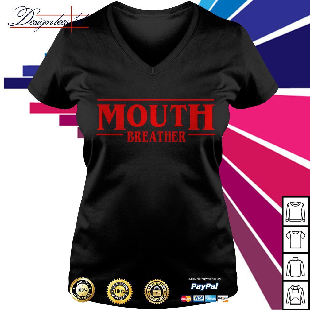 Stranger Things season 3 Mouth breather V-neck T-shirt