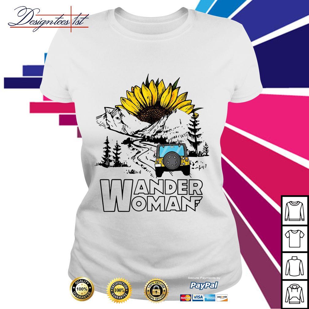 Sunflower and jeep wander woman Ladies Tee