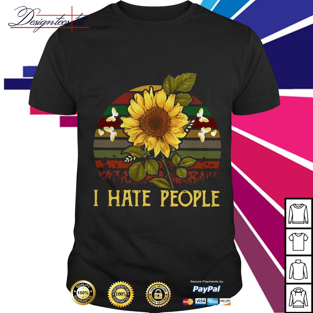 Sunflower I hate people vintage shirt