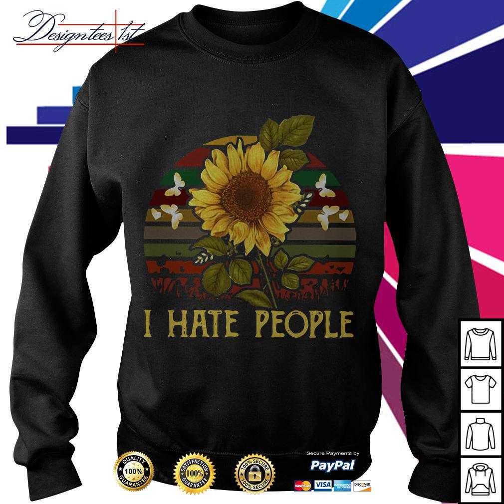 Sunflower I hate people vintage Sweater