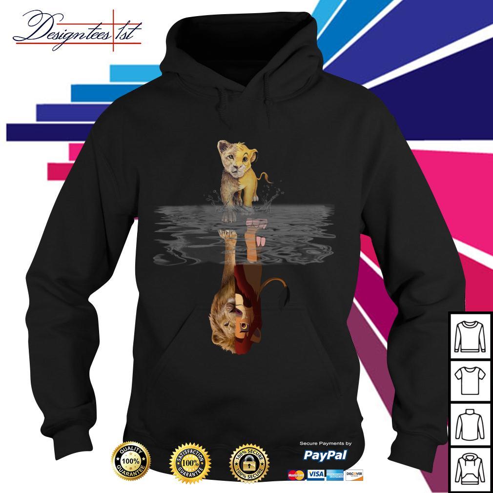 The Lion King Simba water mirror reflection Mufasa Hoodie