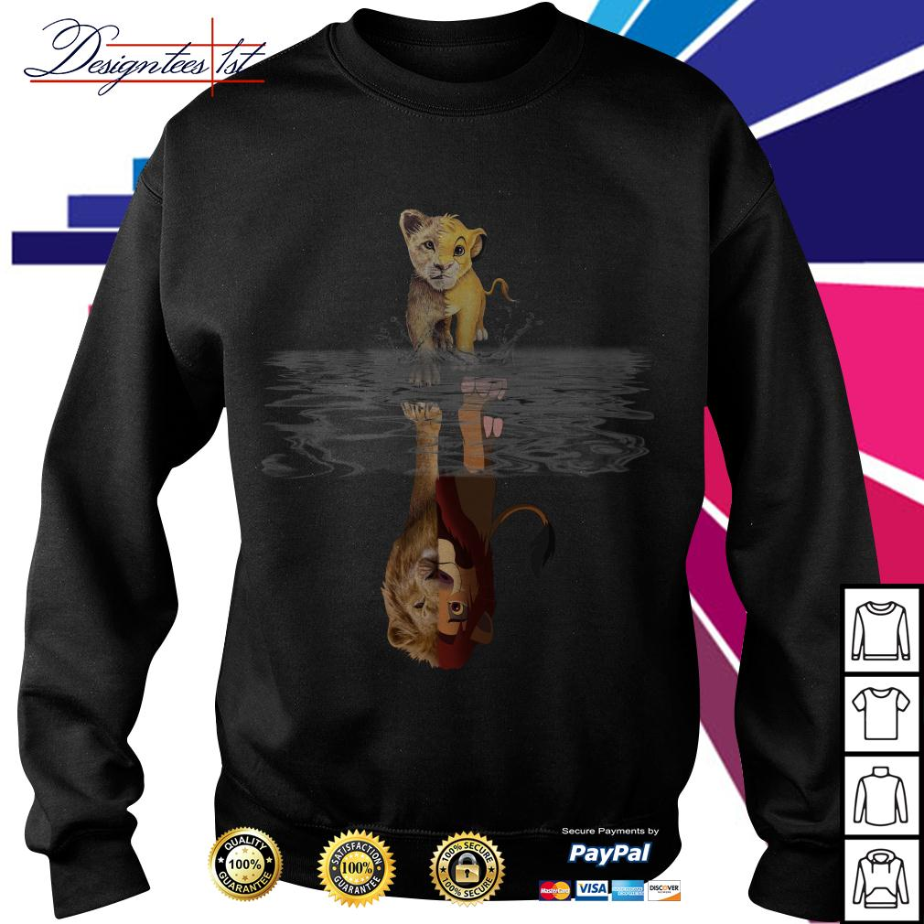 The Lion King Simba water mirror reflection Mufasa Sweater