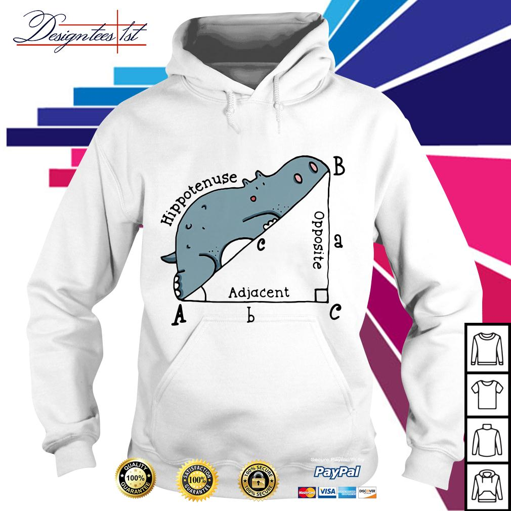 Triangle geometry math hippotenuse adjacent opposite Hoodie