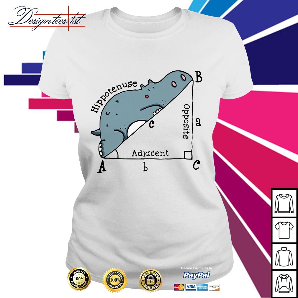 Triangle geometry math hippotenuse adjacent opposite Ladies Tee