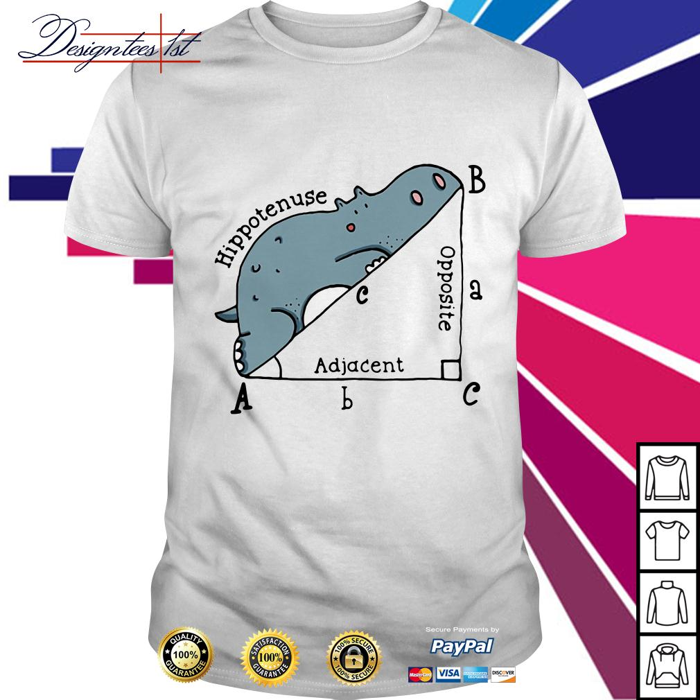 Triangle geometry math hippotenuse adjacent opposite shirt