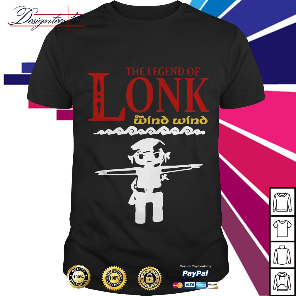Zelda the legend of Lonk the wind wind shirt