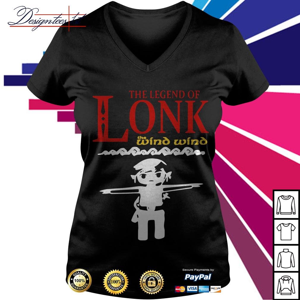 Zelda the legend of Lonk the wind wind V-neck T-shirt