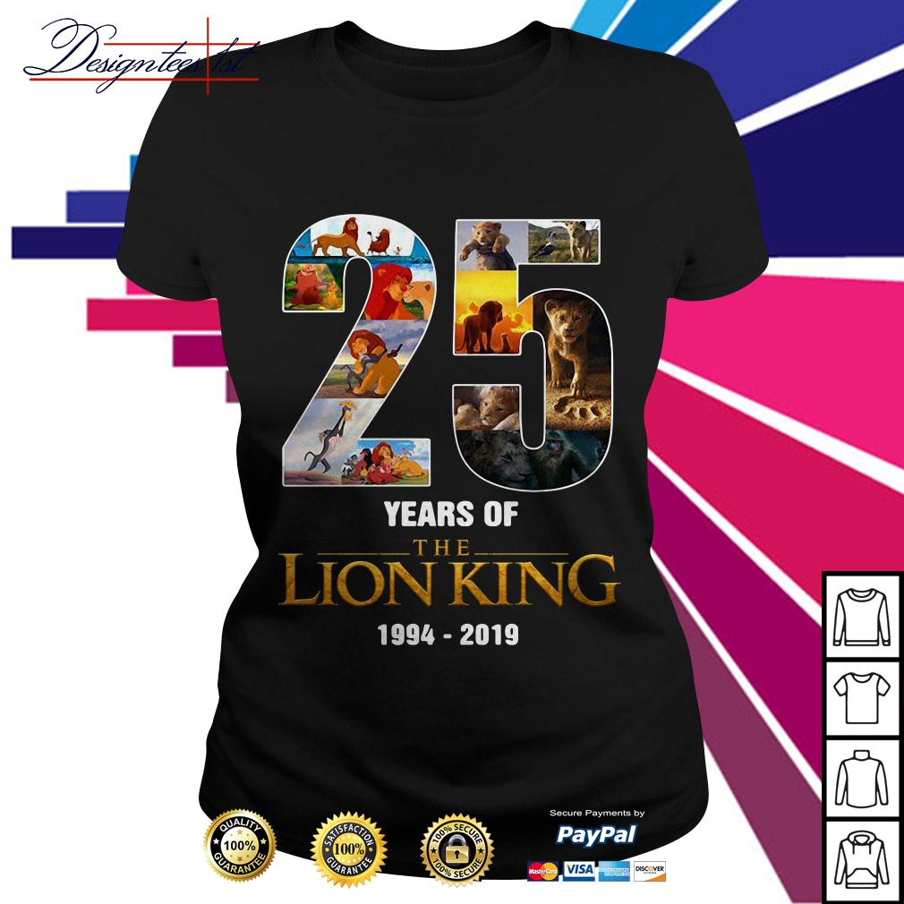 25 Years of The Lion King 1994-2019 Ladies Tee