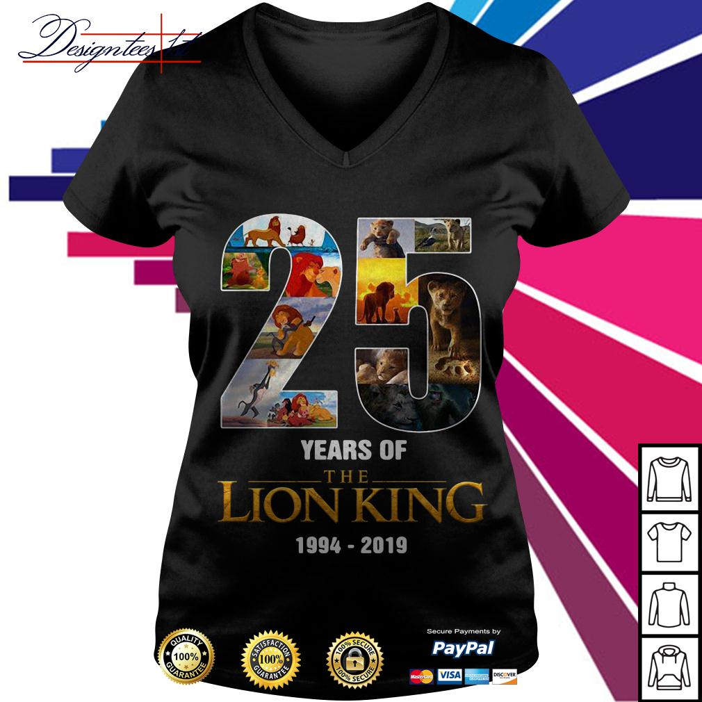 25 Years of The Lion King 1994-2019 V-neck T-shirt