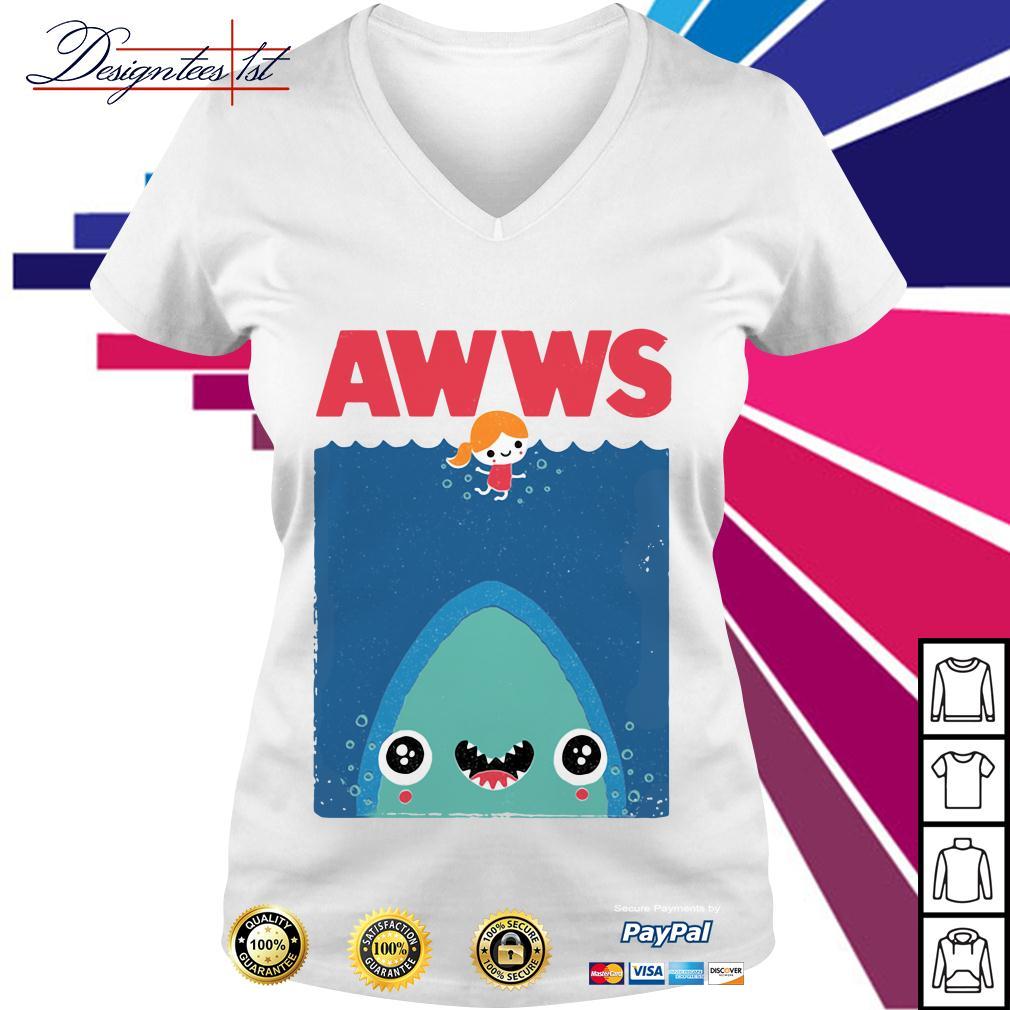 Awws shark V-neck T-shirt