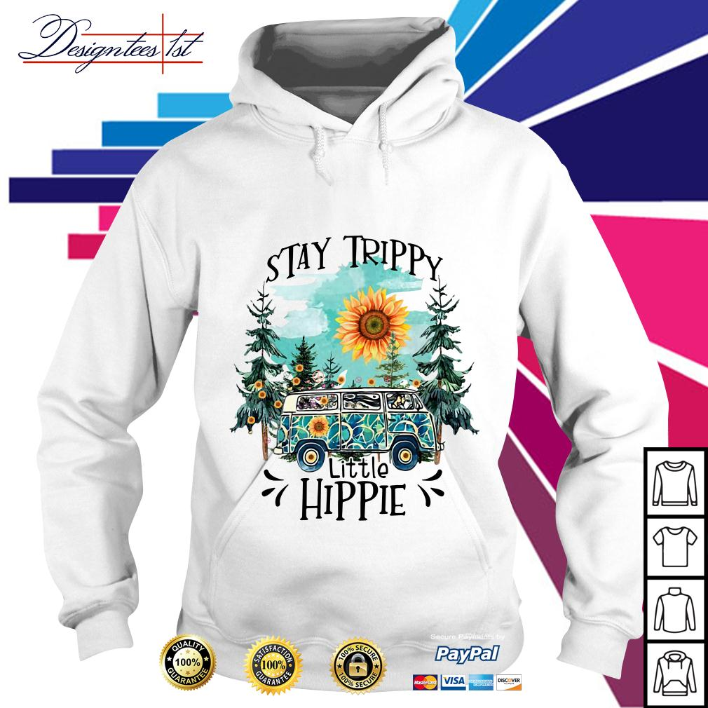 Camping sunflower stay trippy little hippie Hoodie