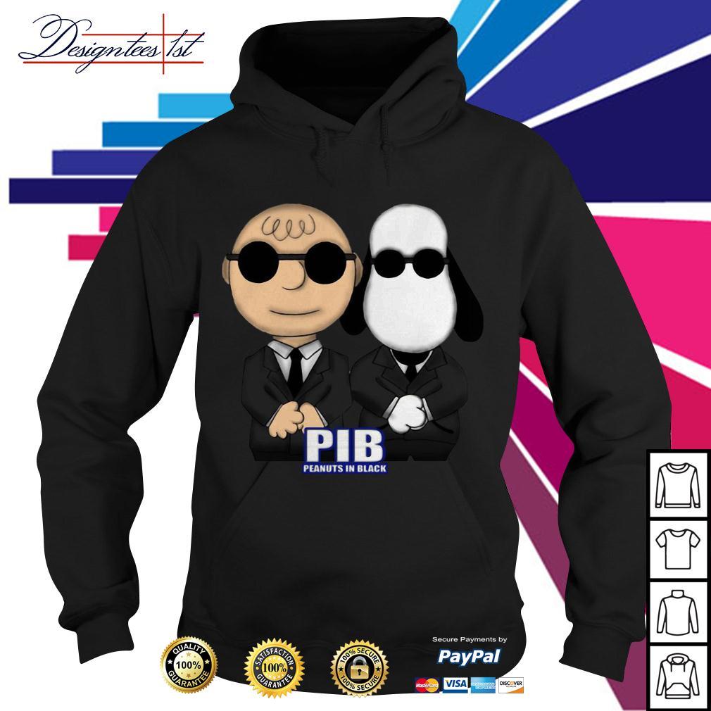 Charlie Brown and Snoopy PIB Peanuts in black men in black Hoodie