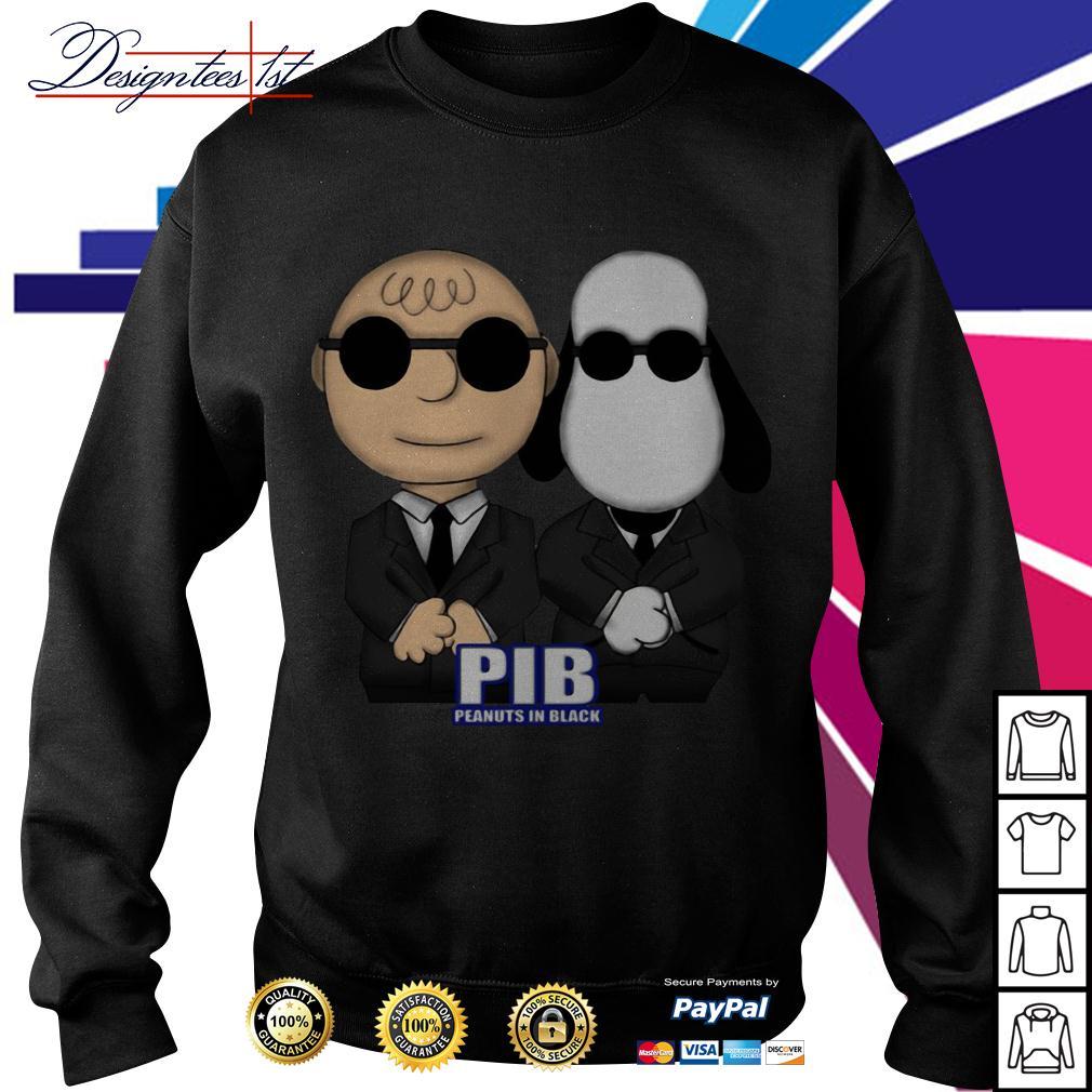 Charlie Brown and Snoopy PIB Peanuts in black men in black Sweater