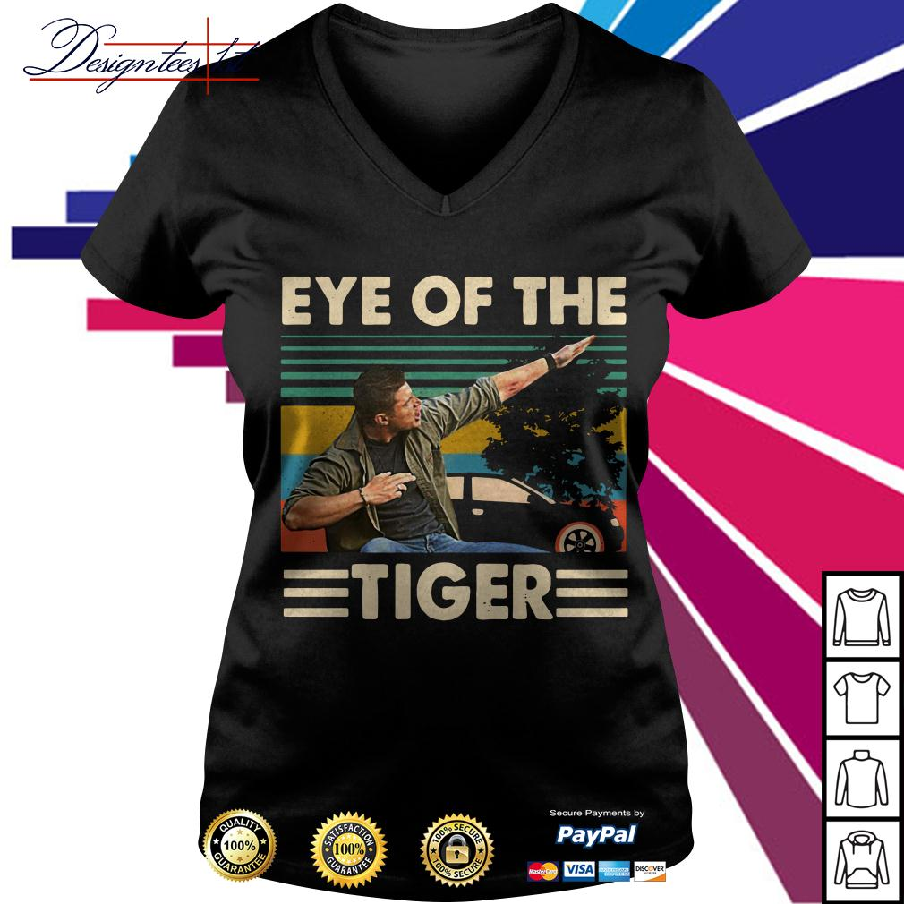 Dean Winchester Supernatural eye of the tiger vintage V-neck T-shirt