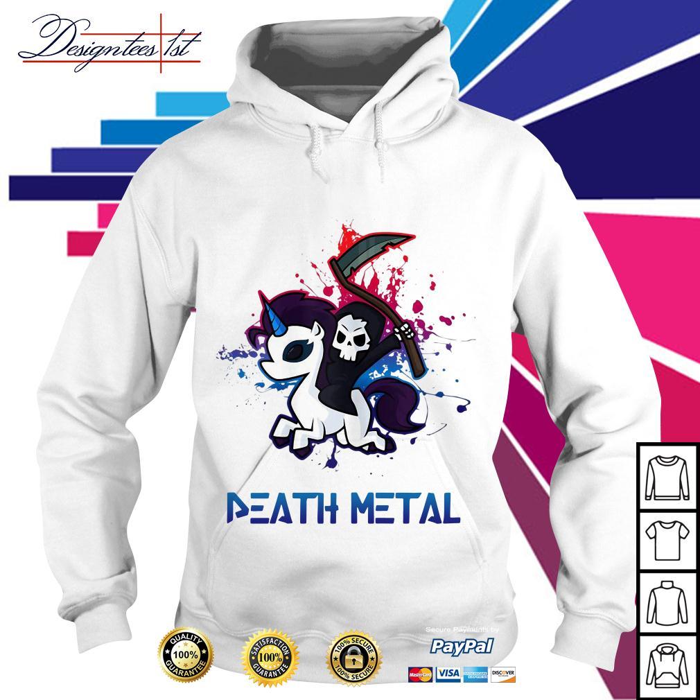 Death riding unicorn death metal Hoodie