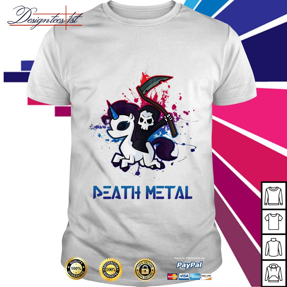 Death riding unicorn death metal shirt