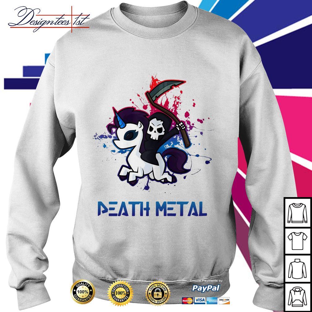 Death riding unicorn death metal Sweater